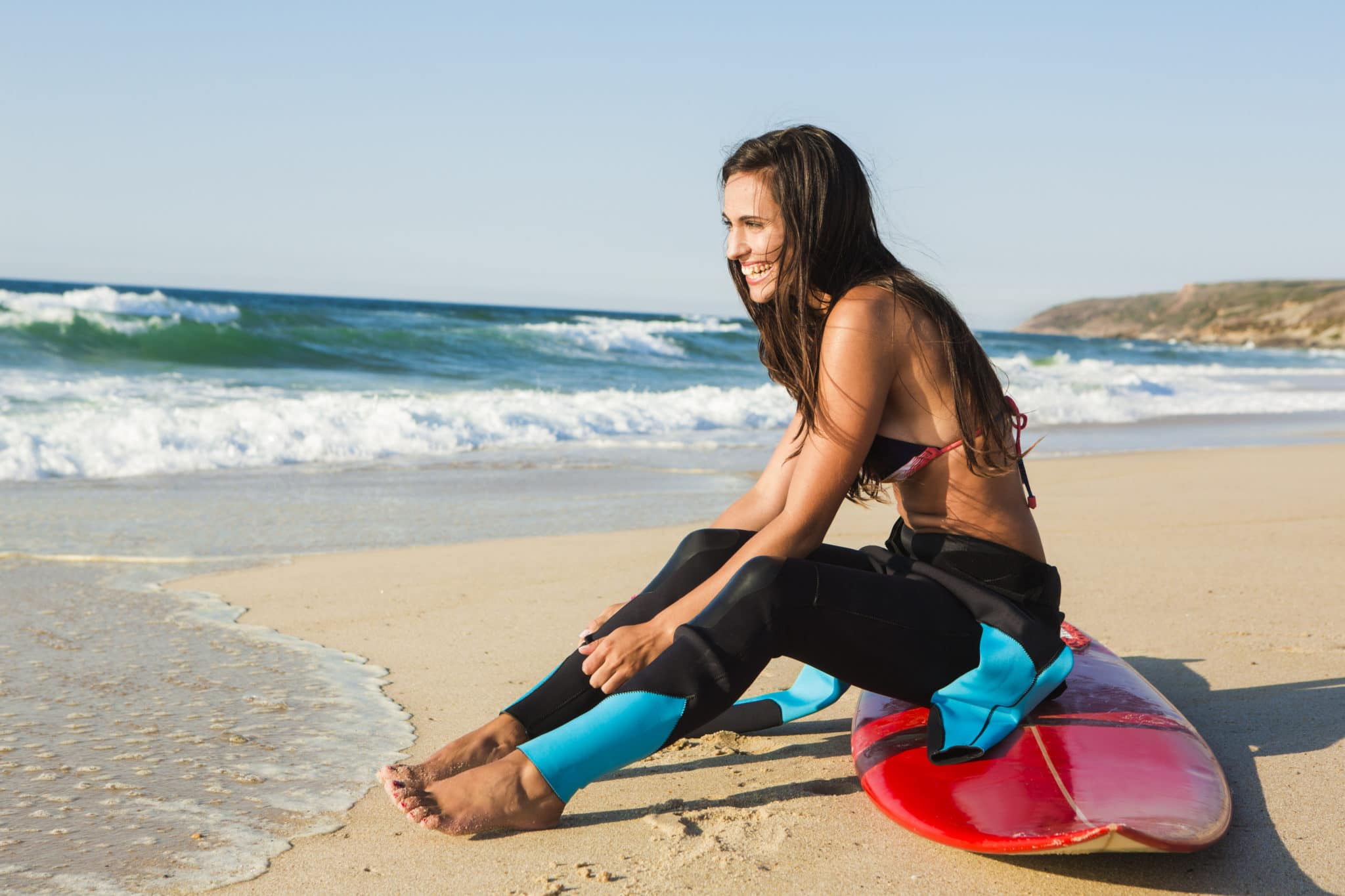 Image of female surfer