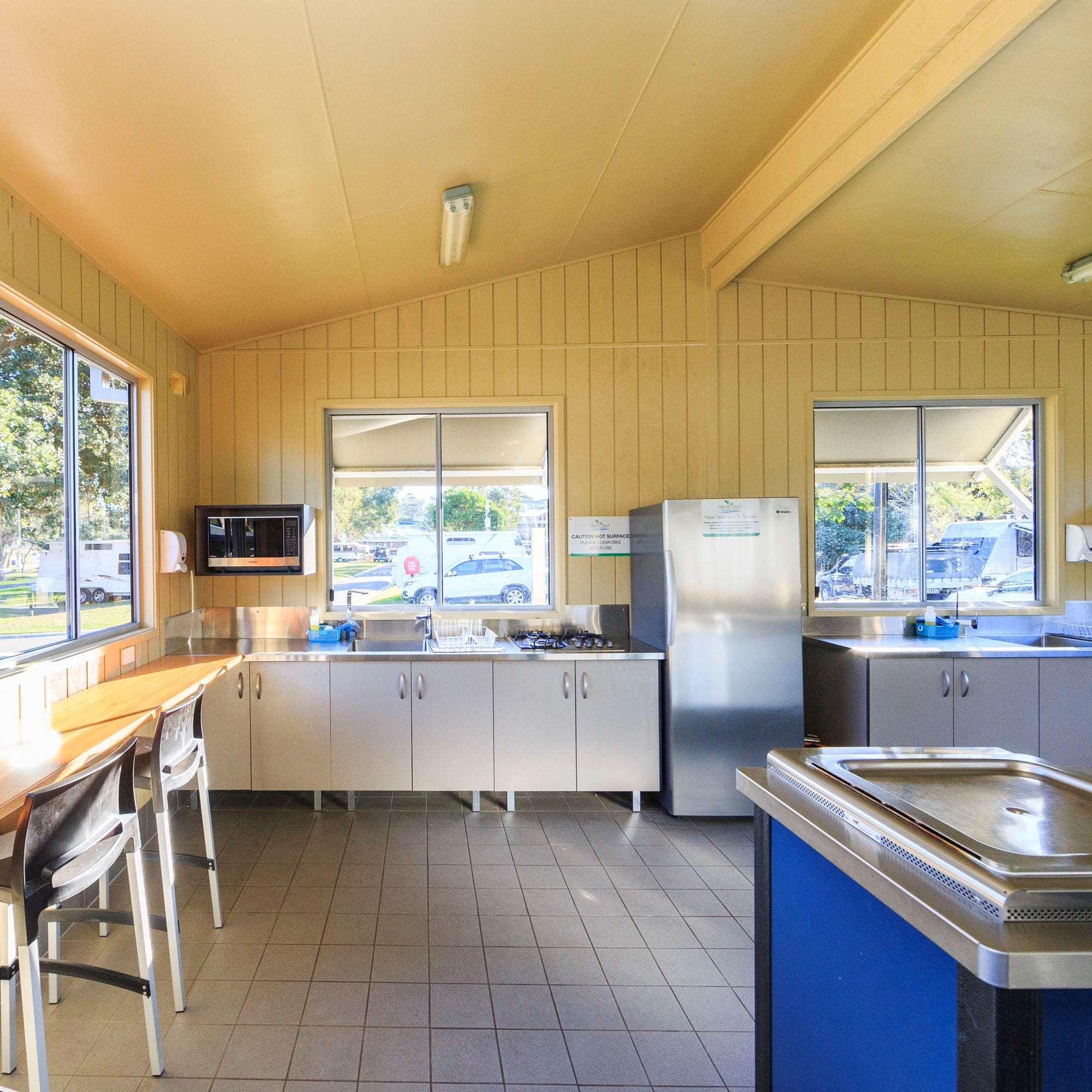 Image of the camp kitchen at Reflections Holiday Parks Scotts Head