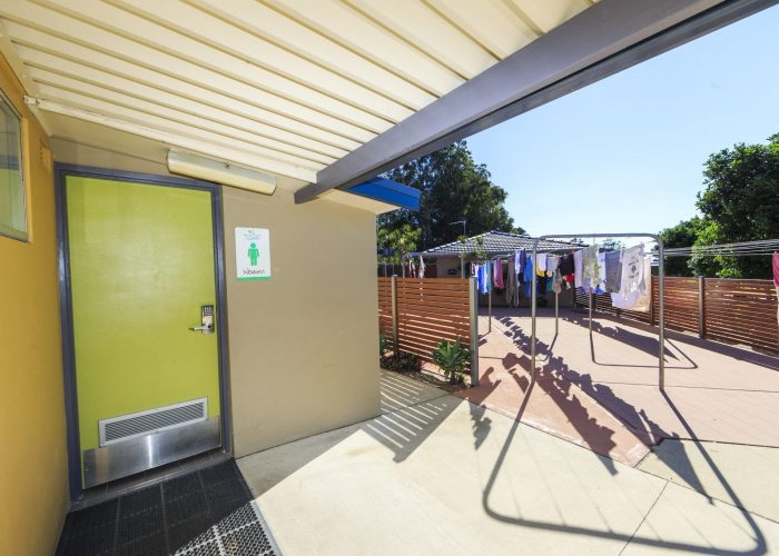 Guest amenities and clothesline at Reflections Holiday Park Urunga